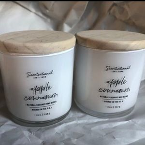 Candles, apple cinnamon , 5oz each